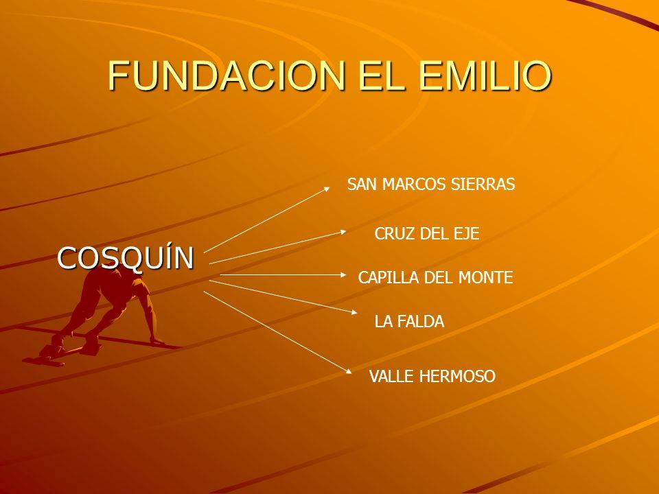 FUNDACION EL EMILIO COSQUÍN SAN MARCOS SIERRAS LA FALDA VALLE HERMOSO CAPILLA DEL MONTE CRUZ DEL EJE
