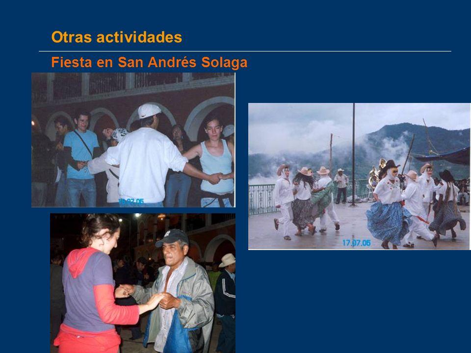 Otras actividades Fiesta en San Andrés Solaga