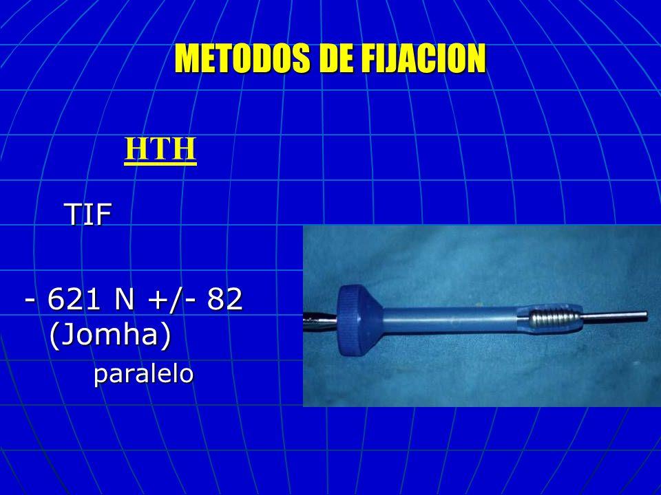 MÉTODOS DE FIJACIÓN FEMORAL Arandela + tornillo 502 Arandela + tornillo 502 Tornillo p.