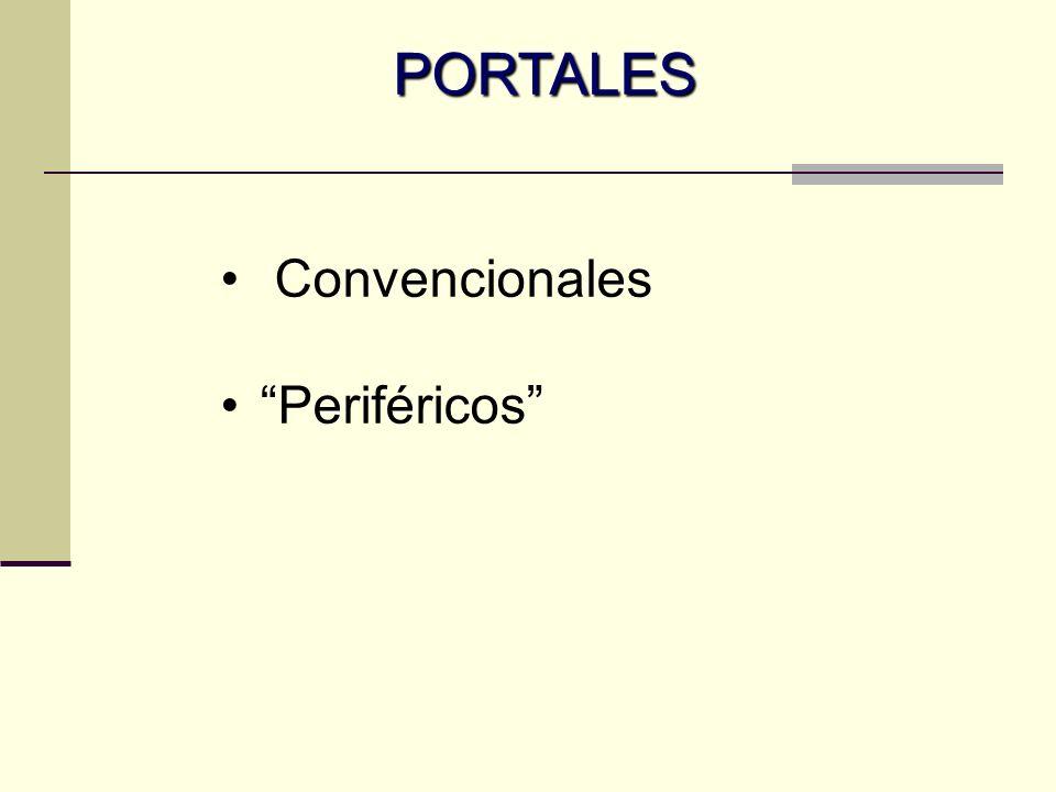 Portales convencionales Anterolateral Anterior Postero-lateral