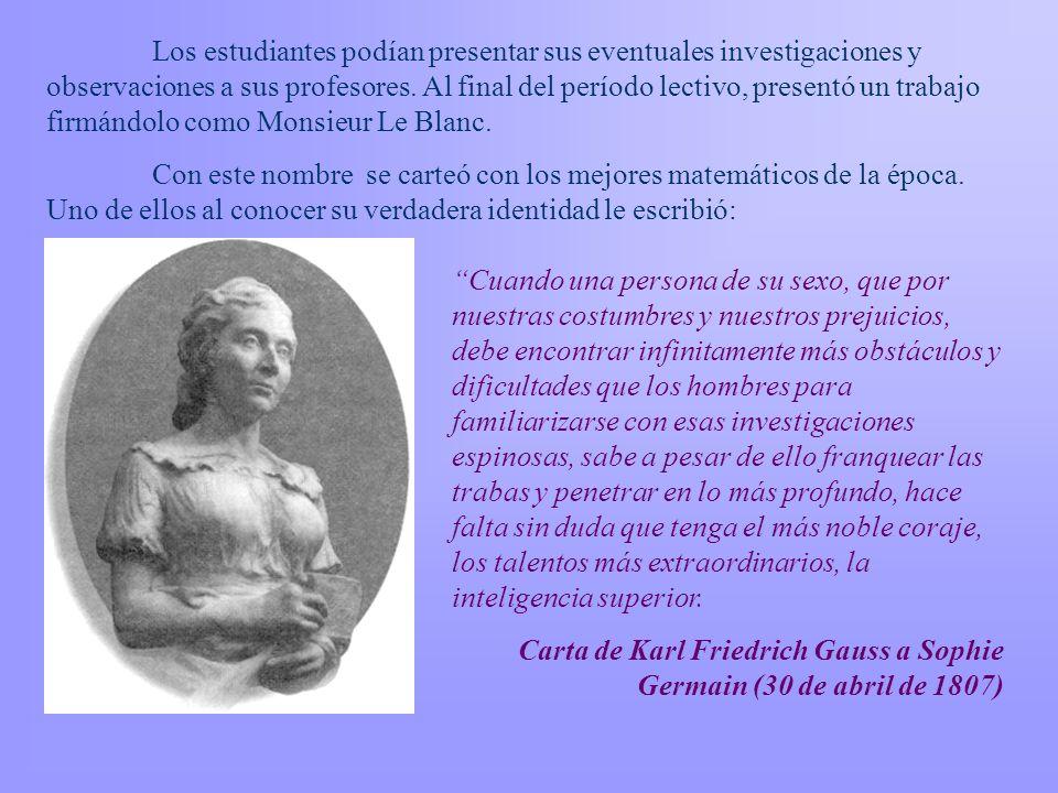 Sophie Germain Era hija del banquero Germain. En su adolescencia se refugió en la biblioteca de su padre, repleta de libros de matemáticas, para escap