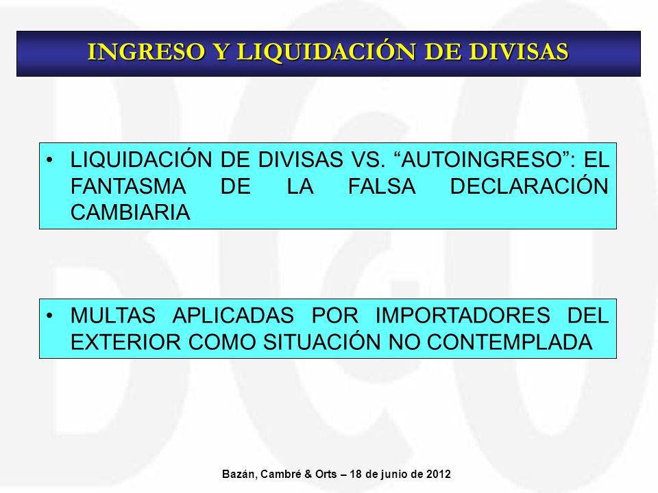 LIQUIDACIÓN DE DIVISAS VS.