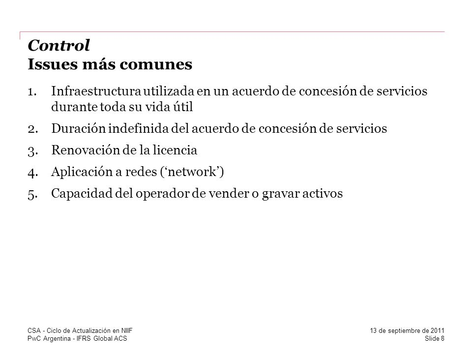 PwC Argentina - IFRS Global ACS Activo financiero vs.