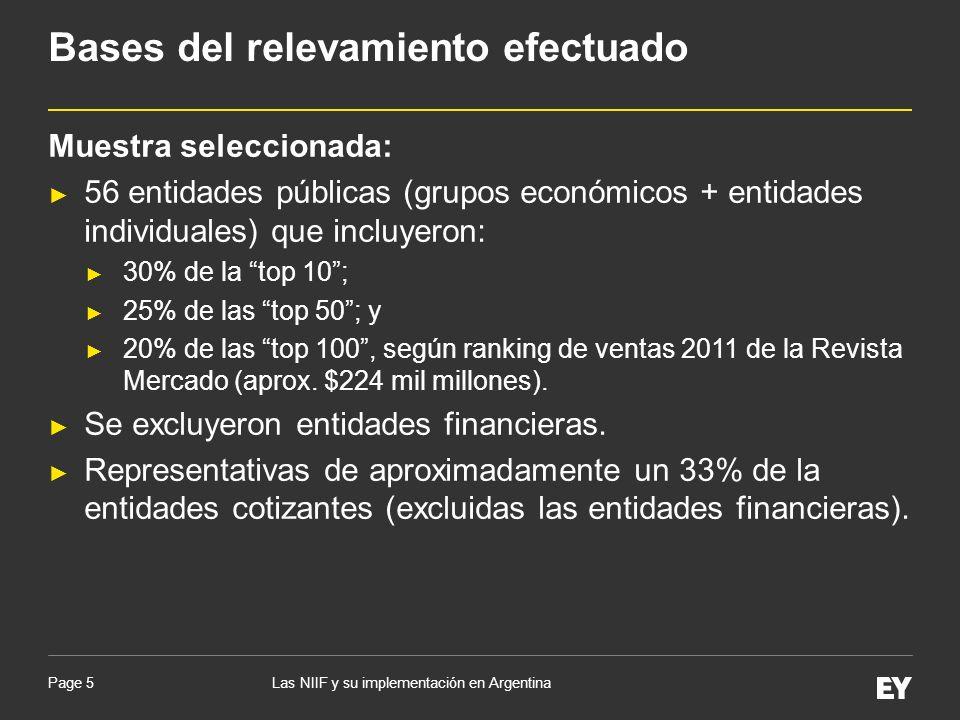 Page 5 Muestra seleccionada: 56 entidades públicas (grupos económicos + entidades individuales) que incluyeron: 30% de la top 10; 25% de las top 50; y