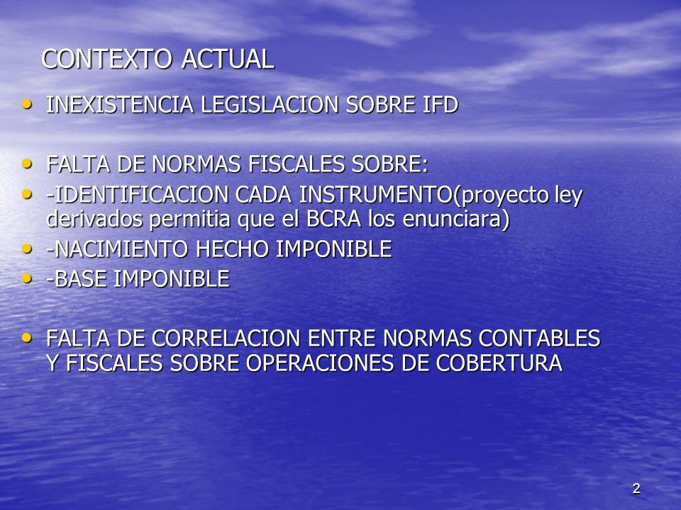 2 CONTEXTO ACTUAL INEXISTENCIA LEGISLACION SOBRE IFD INEXISTENCIA LEGISLACION SOBRE IFD FALTA DE NORMAS FISCALES SOBRE: FALTA DE NORMAS FISCALES SOBRE