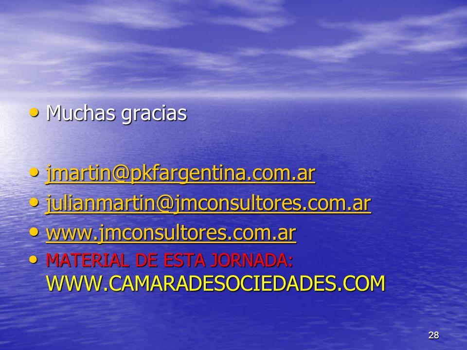 28 Muchas gracias Muchas gracias jmartin@pkfargentina.com.ar jmartin@pkfargentina.com.ar jmartin@pkfargentina.com.ar julianmartin@jmconsultores.com.ar