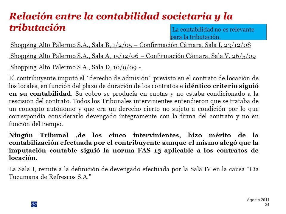 PwC Shopping Alto Palermo S.A., Sala B, 1/2/05 – Confirmación Cámara, Sala I, 23/12/08 Shopping Alto Palermo S.A., Sala A, 15/12/06 – Confirmación Cám