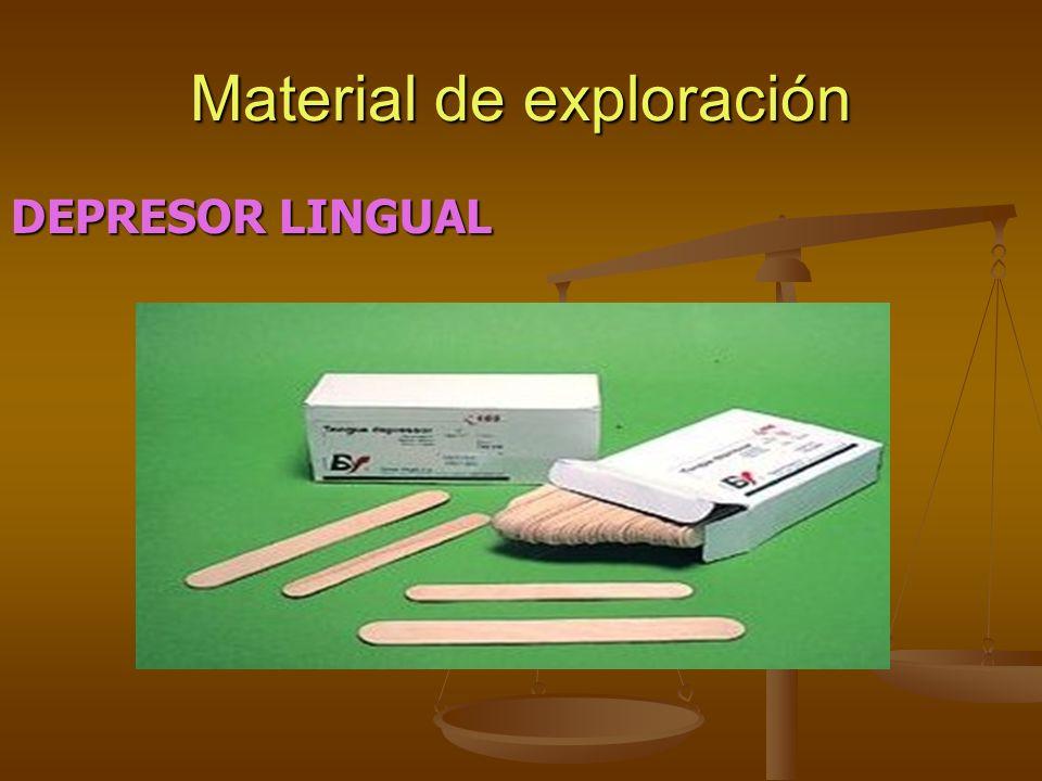 Material de exploración DEPRESOR LINGUAL