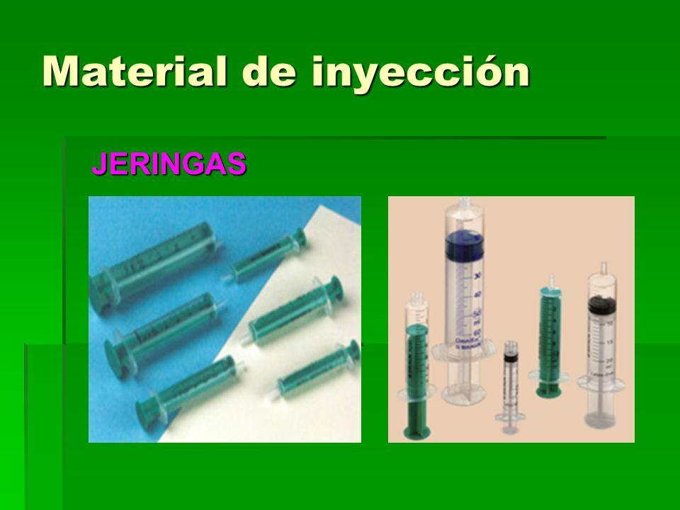 Material de inyección JERINGAS