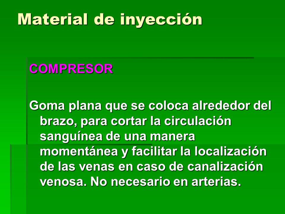 Material de inyección COMPRESOR Goma plana que se coloca alrededor del brazo, para cortar la circulación sanguínea de una manera momentánea y facilita