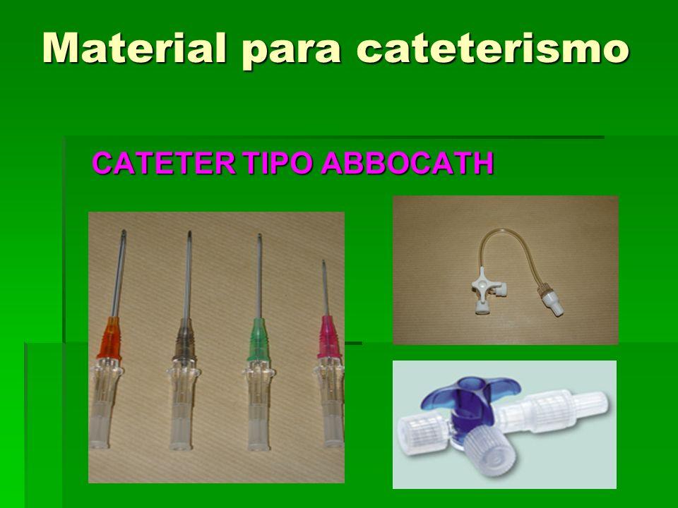 Material para cateterismo CATETER TIPO ABBOCATH