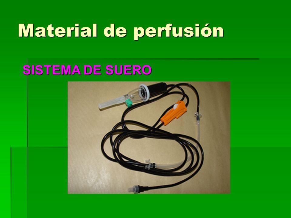 Material de perfusión SISTEMA DE SUERO