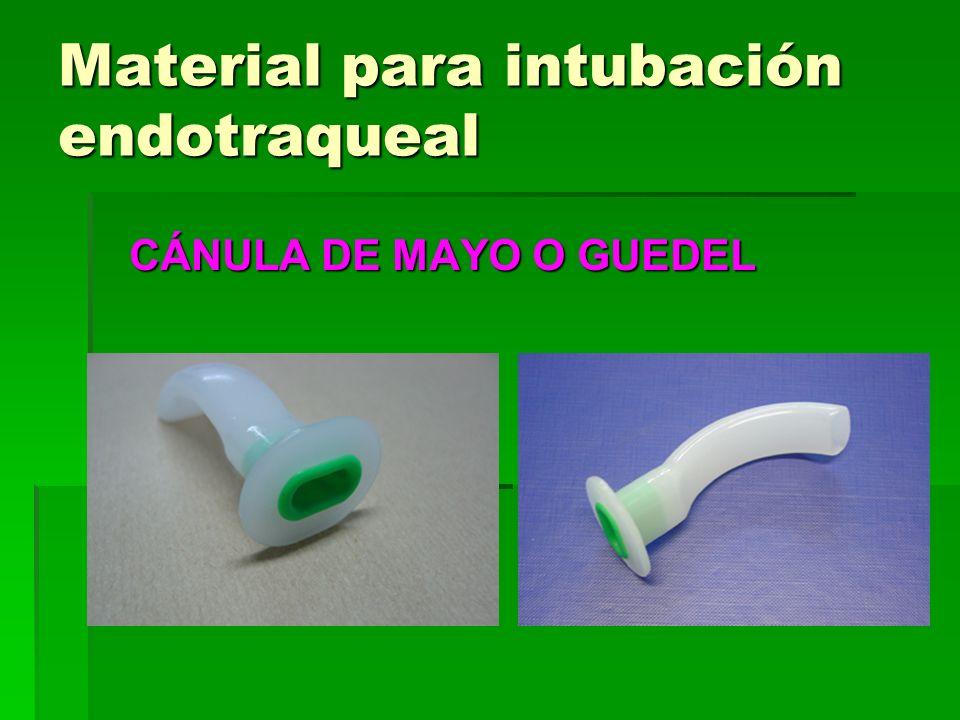 Material para intubación endotraqueal CÁNULA DE MAYO O GUEDEL