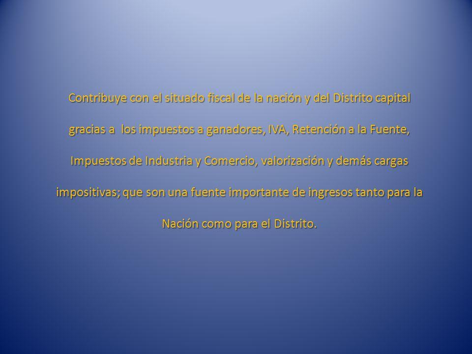 De otra parte, a partir del 2007, el contrato de concesión para la explotación de Apuestas Permanentes en Bogotá y Cundinamarca, fue otorgado a la Firma APUESTAS EN LINEA S.A.