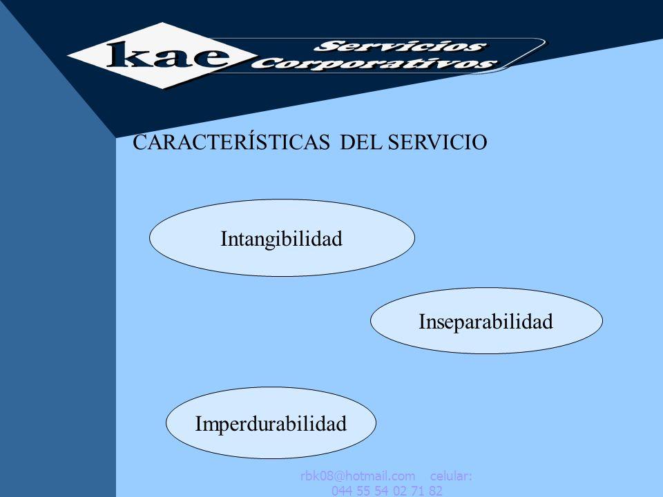El cliente juzga la calidad a travès de lo que se conoce como dimensiones del servicio Respuesta Atenciòn Accesibilidad Amabilidad Credibilidad Comunicaciòn rbk08@hotmail.com celular: 044 55 54 02 71 82
