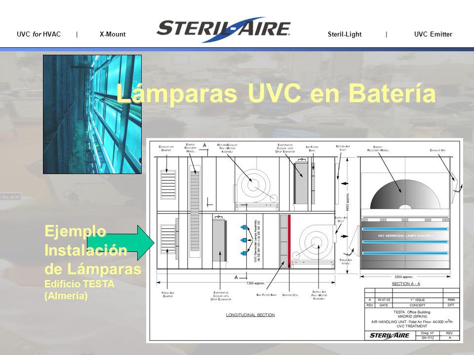 UVC for HVAC | X-Mount Steril-Light | UVC Emitter EjemploInstalación de Lámparas Edificio TESTA (Almería) Lámparas UVC en Batería