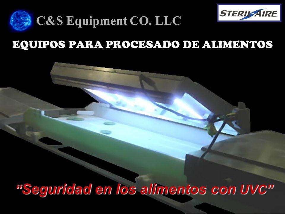 EQUIPOS PARA PROCESADO DE ALIMENTOS C&S Equipment CO. LLC Seguridad en los alimentos con UVC Seguridad en los alimentos con UVC