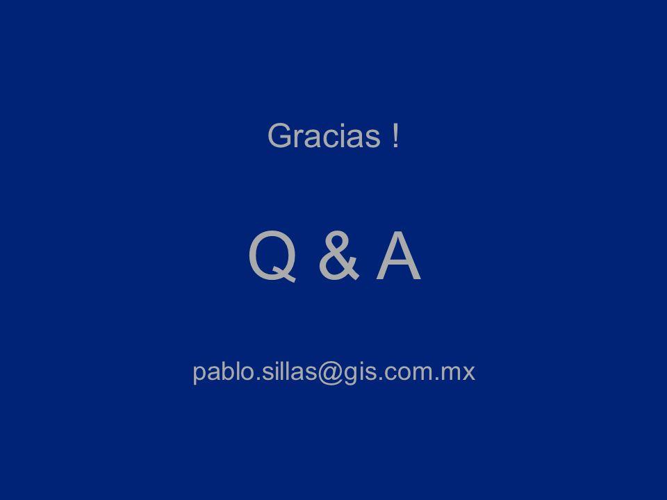 Gracias ! Q & A pablo.sillas@gis.com.mx