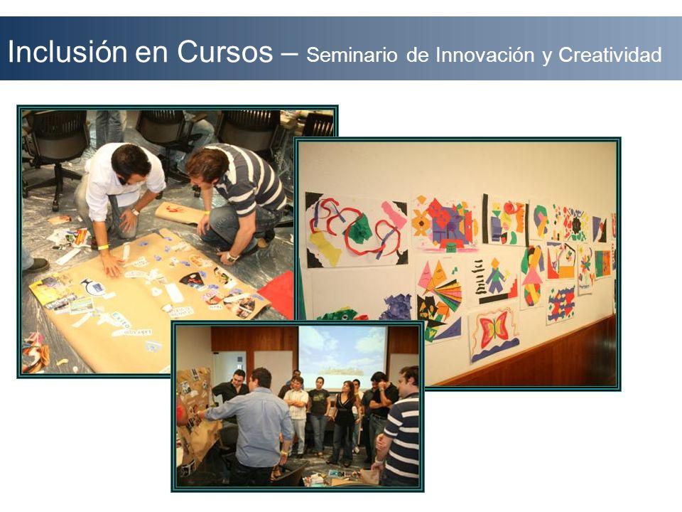 Inclusión en Cursos – Seminario de Innovación y Creatividad