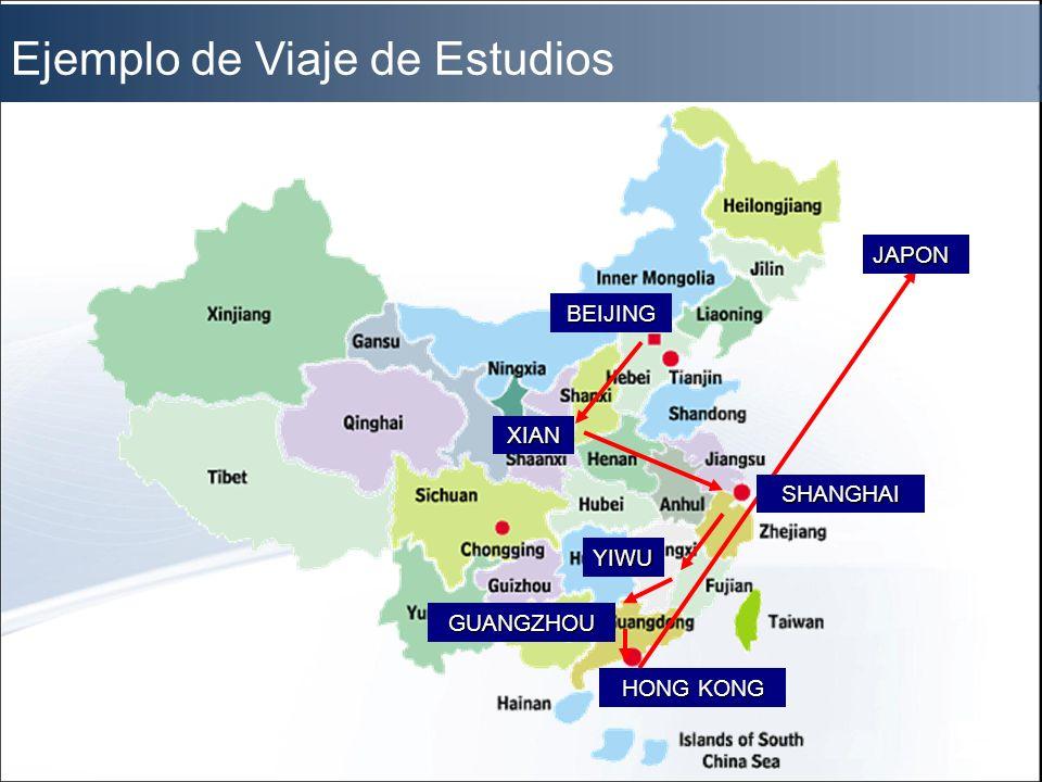 JAPON YIWU XIAN BEIJING SHANGHAI GUANGZHOU HONG KONG Ejemplo de Viaje de Estudios