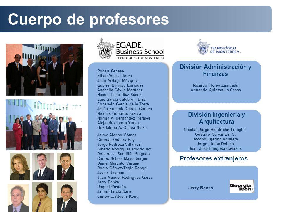 Profesores extranjeros División Ingeniería y Arquitectura Robert Grosse Elisa Cobas Flores Juan Arriaga Múzquiz Gabriel Barraza Enríquez Anabella Dávi