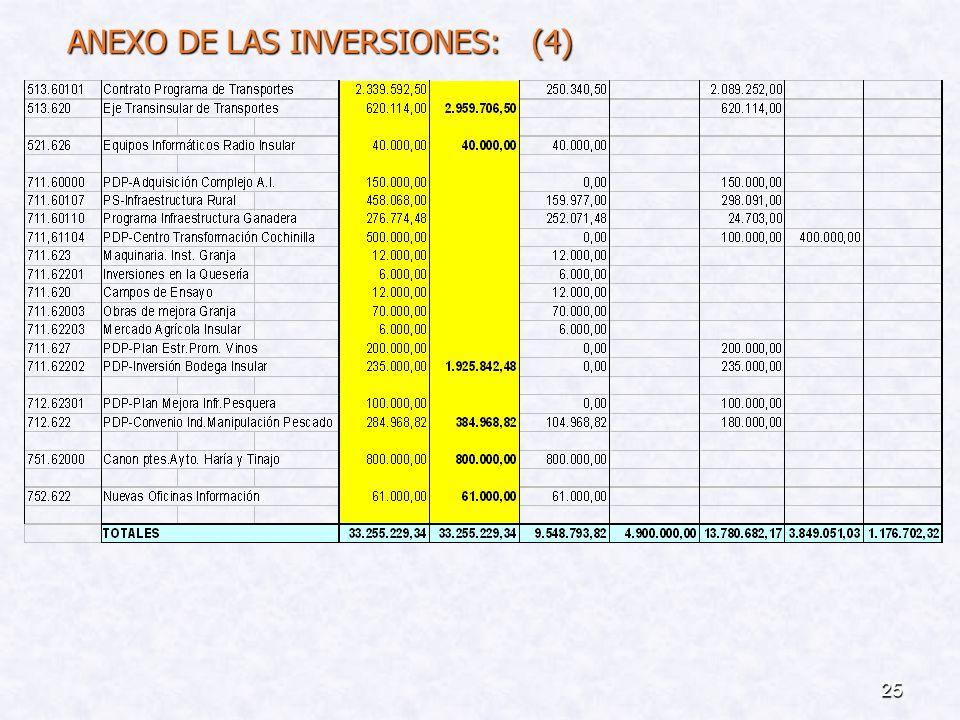 24 ANEXO DE LAS INVERSIONES: (3)