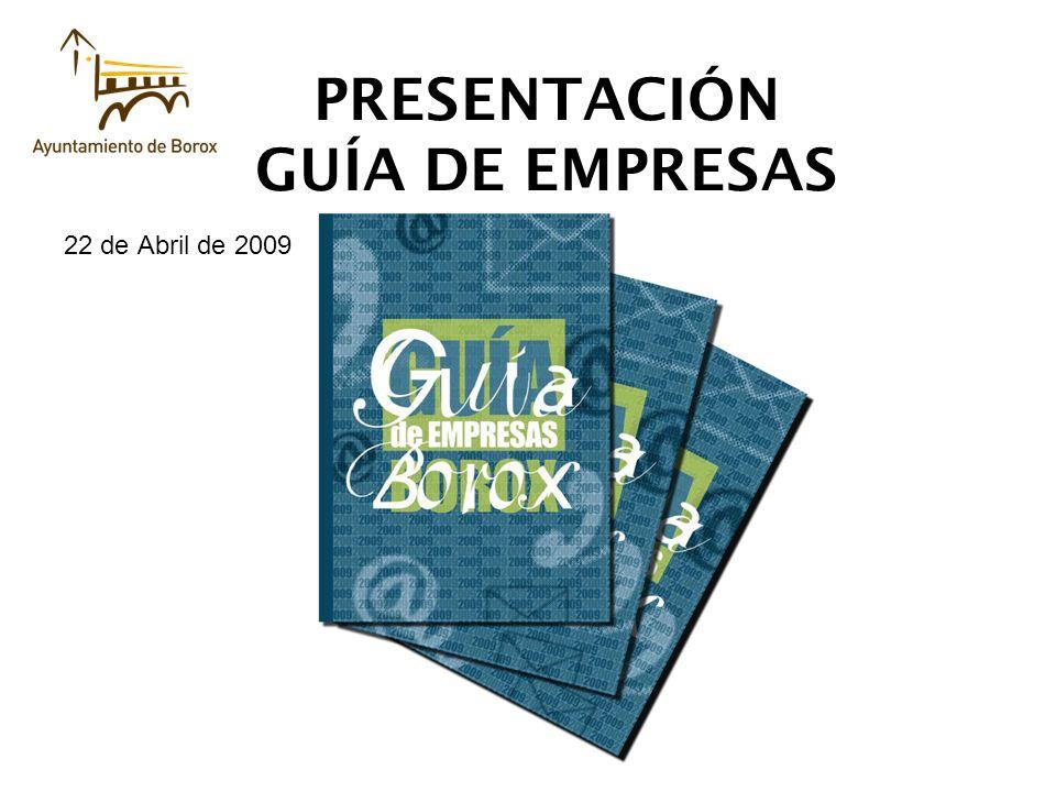 PRESENTACIÓN GUÍA DE EMPRESAS 22 de Abril de 2009