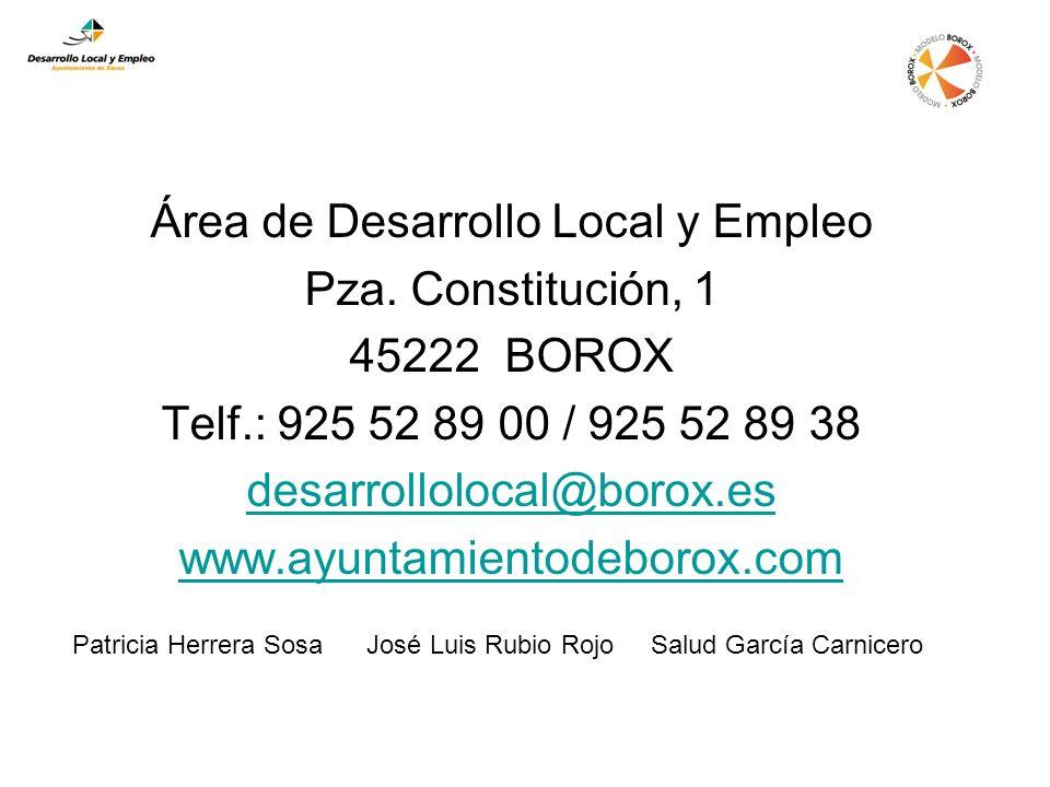 Área de Desarrollo Local y Empleo Pza.