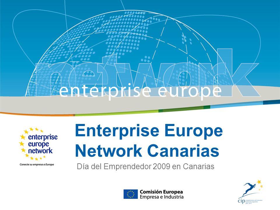 Title of the presentation | Date |# Contacto www.een-canarias.org Enterprise Europe Network Canarias | Mayo 2009 1.- Asesoramiento, Cooperación Empresarial e Internacionalización 2.- Innovación y de Transferencia de Tecnología y Conocimientos 3.- Participación de las PYME en el 7º P.M.