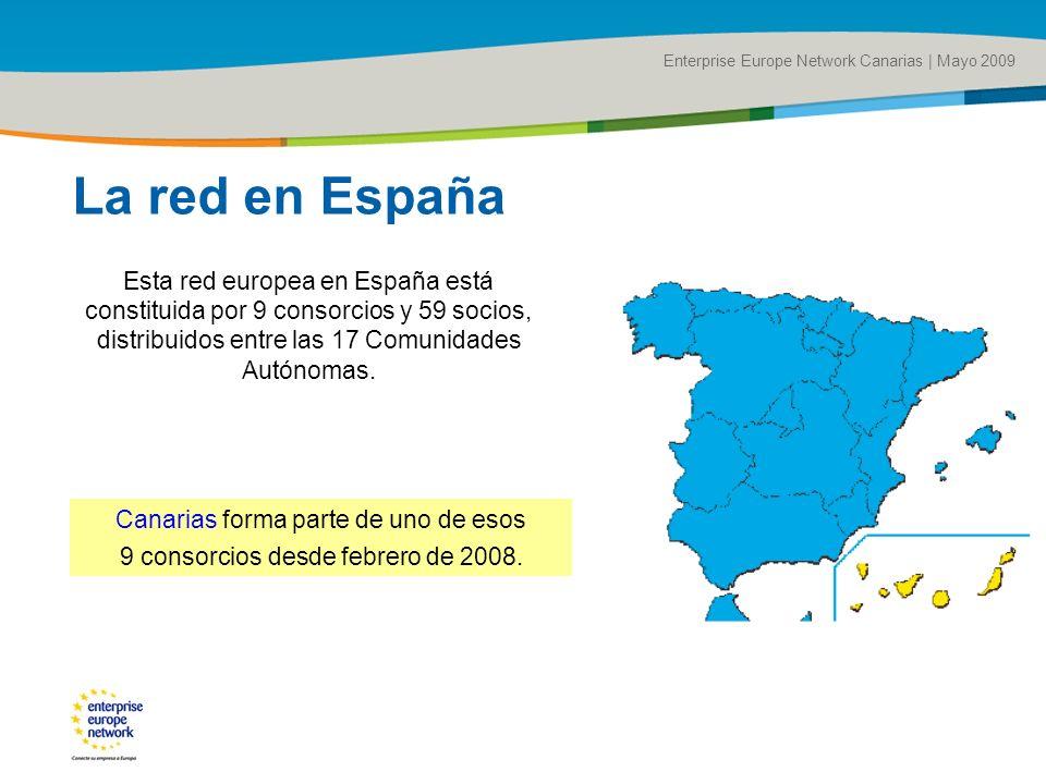 Title of the presentation | Date |# Enterprise Europe Network Canarias | Mayo 2009 Canarias forma parte de uno de esos 9 consorcios desde febrero de 2008.