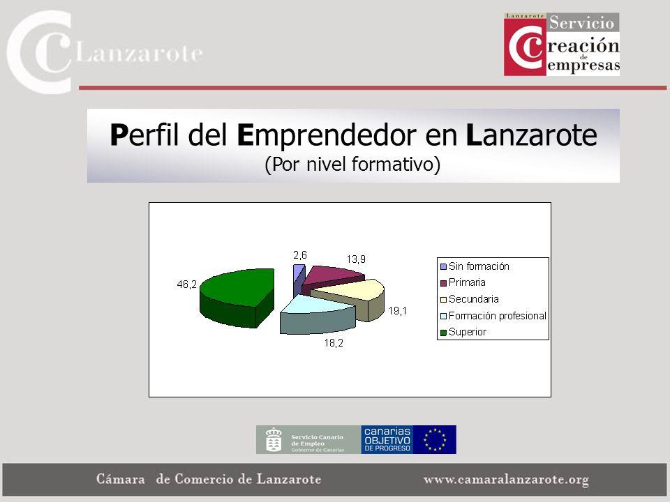 Perfil del Emprendedor en Lanzarote (Por nivel formativo)