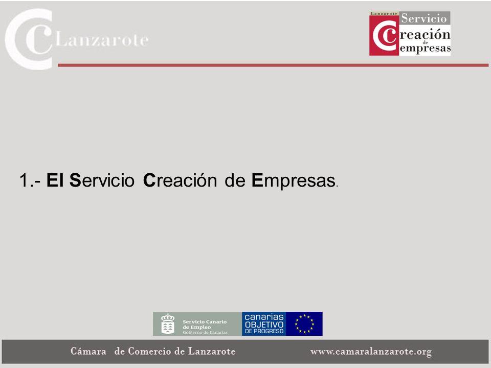 1.- El Servicio Creación de Empresas.