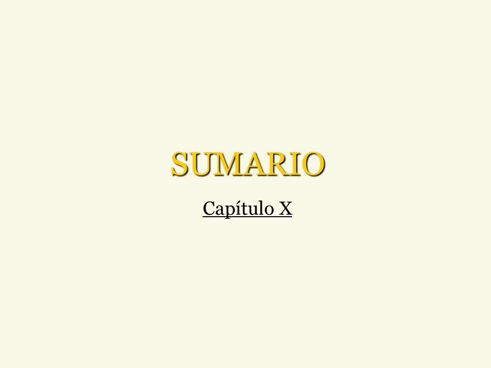 SUMARIO Capítulo X