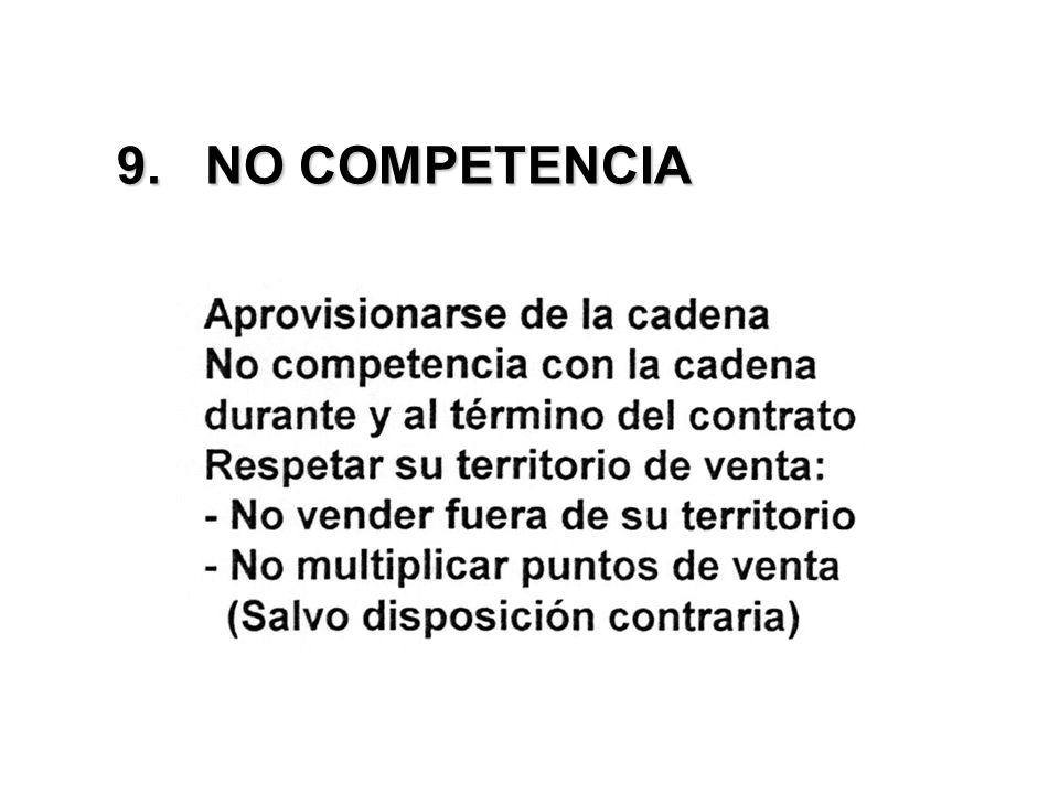 9. NO COMPETENCIA