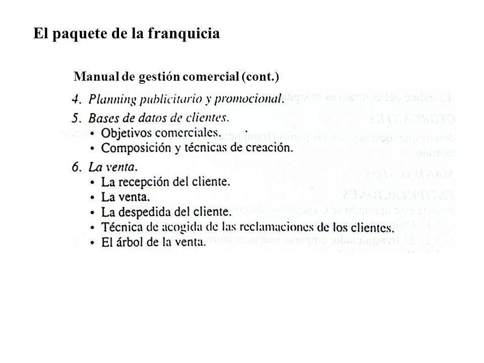 Manual de gestión comercial (cont.)