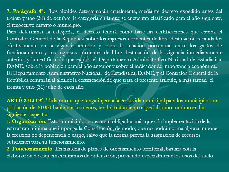 ARTÍCULO 10°.Factores para la delegación y asignación de atribuciones y funciones.