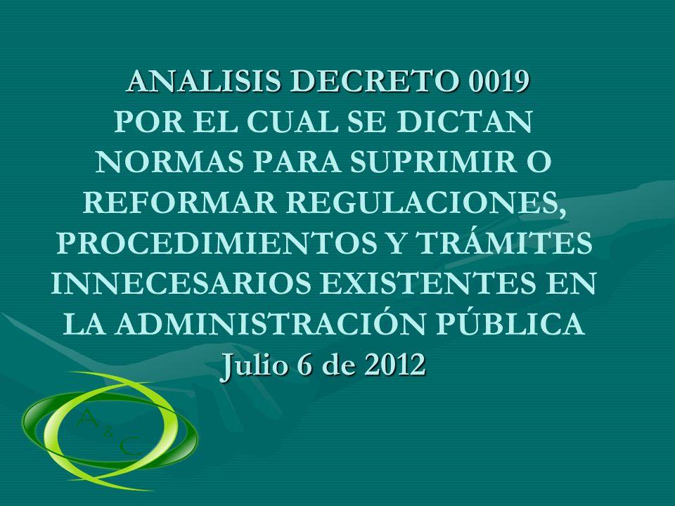 TITULO I REGIMEN GENERAL CAPITULO I PRINCIPIOS Y NORMAS GENERALES APLICABLES A LOS TRÁMITES Y PROCEDIMIENTOS ADMINISTRATIVOS ARTICULO 1.