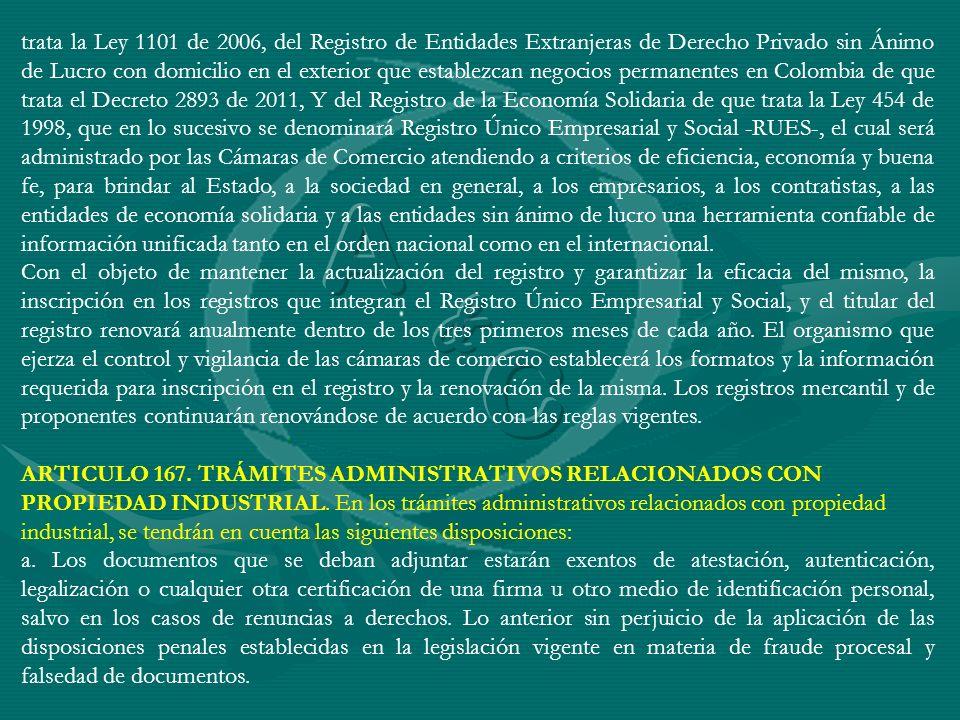 trata la Ley 1101 de 2006, del Registro de Entidades Extranjeras de Derecho Privado sin Ánimo de Lucro con domicilio en el exterior que establezcan ne
