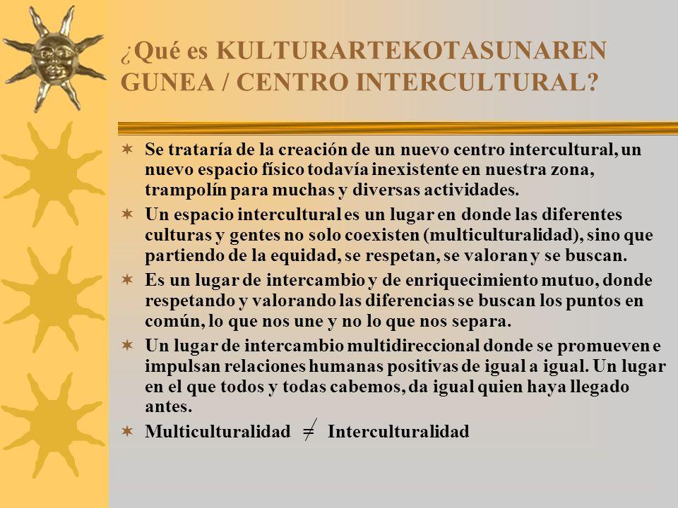 ¿Qué es KULTURARTEKOTASUNAREN GUNEA / CENTRO INTERCULTURAL.