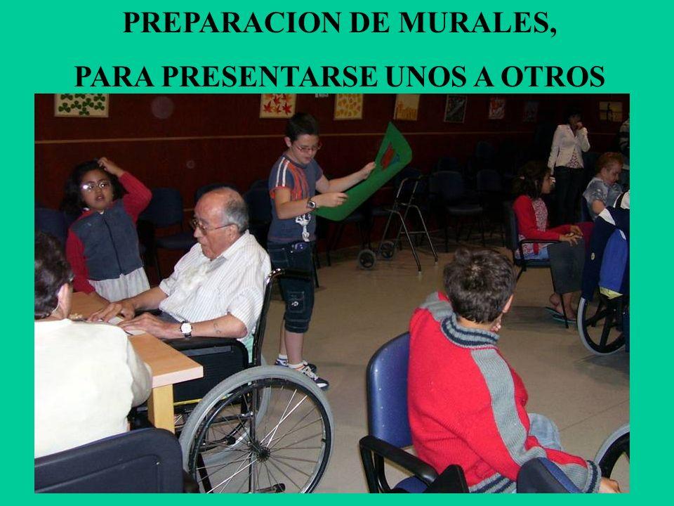 PREPARACION DE MURALES, PARA PRESENTARSE UNOS A OTROS