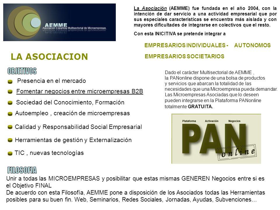 Presencia en el mercado La Asociación (AEMME) fue fundada en el año 2004, con la intención de dar servicio a una actividad empresarial que por sus especiales características se encuentra más aislada y con mayores dificultades de integrarse en colectivos que el resto.