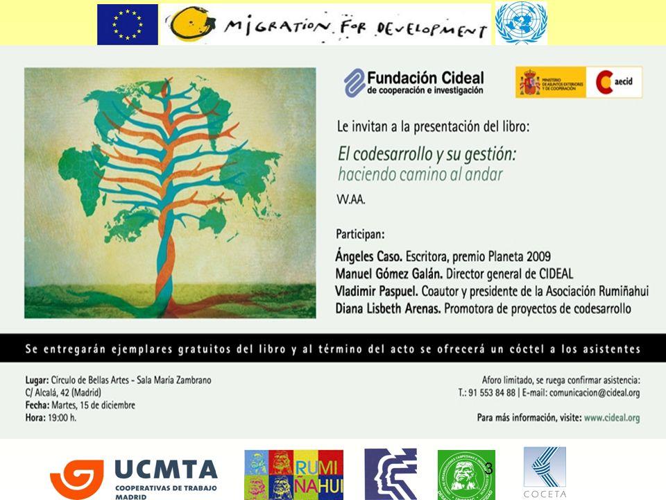 REDES – CAP Redes de apoyo a las capacidades emprendedoras de las personas migrantes para el desarrollo Programa financiado por la Unión Europea a través de la Iniciativa Conjunta de la Comisión Europea y Naciones Unidas para las Migraciones y el Desarrollo