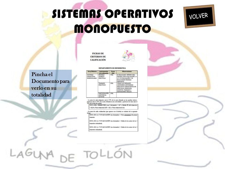 SISTEMAS OPERATIVOS MONOPUESTO Pincha el Documento para verlo en su totalidad