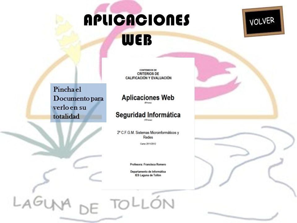 APLICACIONES WEB Pincha el Documento para verlo en su totalidad