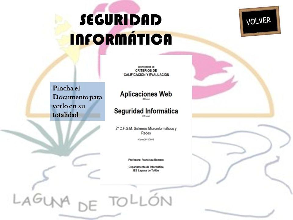 SEGURIDAD INFORMÁTICA Pincha el Documento para verlo en su totalidad