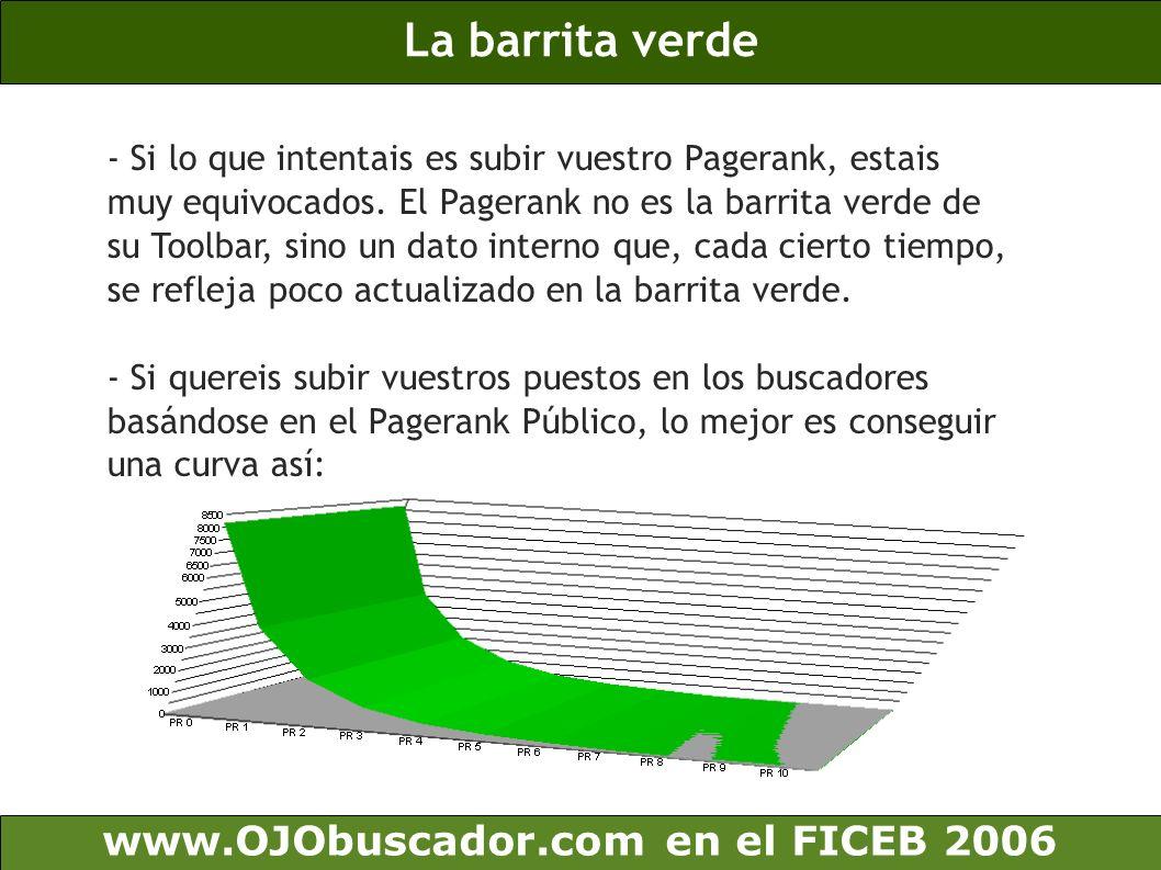 www.OJObuscador.com en el FICEB 2006 ¿Alguna sugerencia sobre cómo conseguir enlaces.