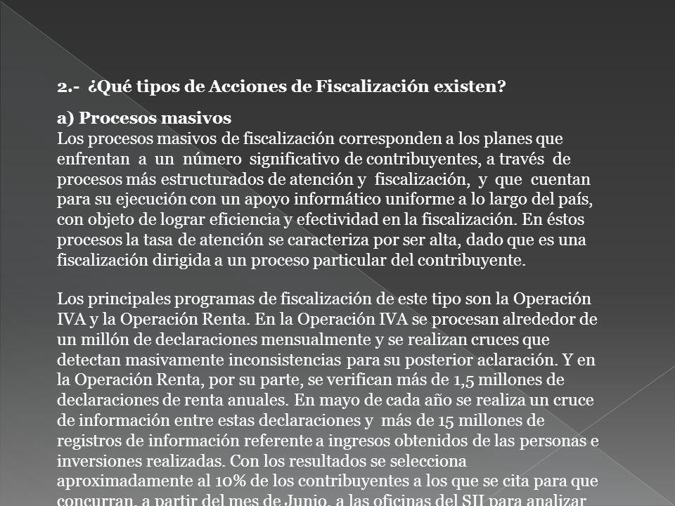 2.- ¿Qué tipos de Acciones de Fiscalización existen.