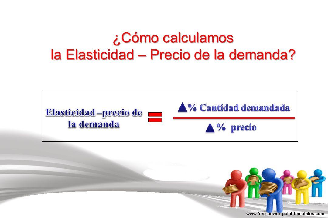 ¿Cómo calculamos la Elasticidad – Precio de la demanda?