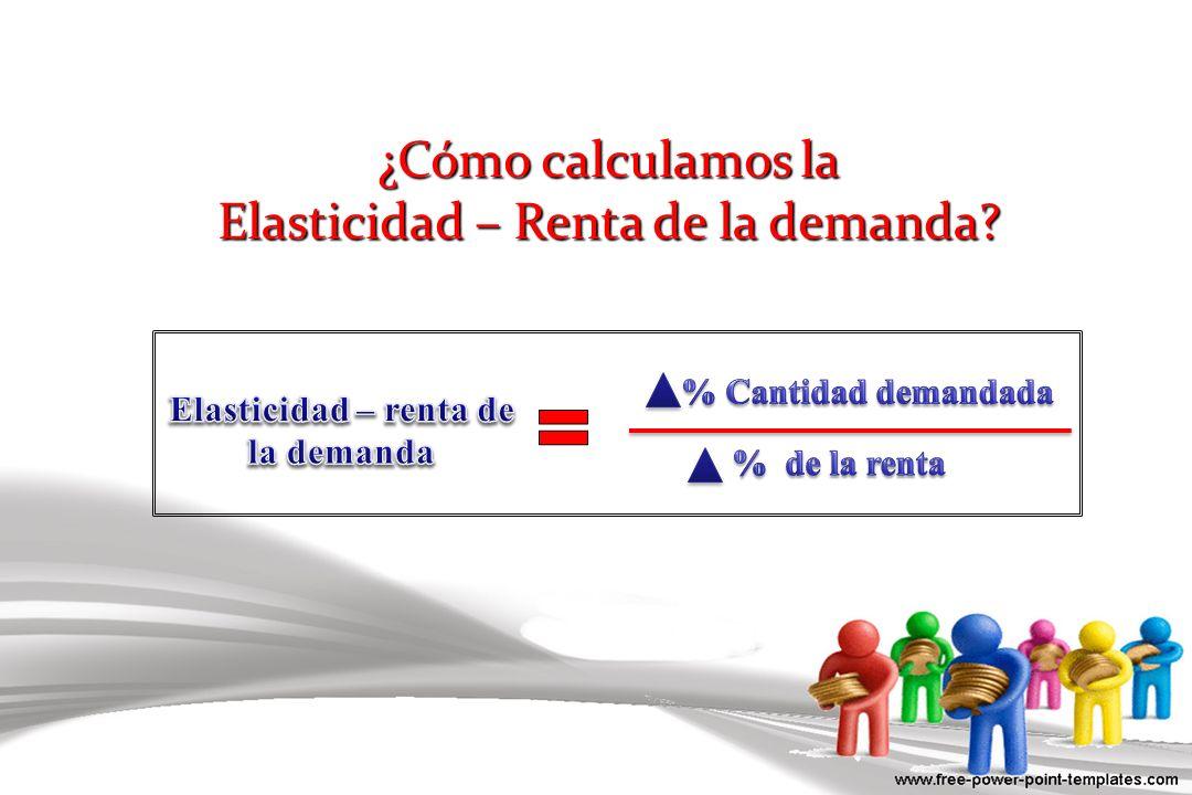 ¿Cómo calculamos la Elasticidad – Renta de la demanda?