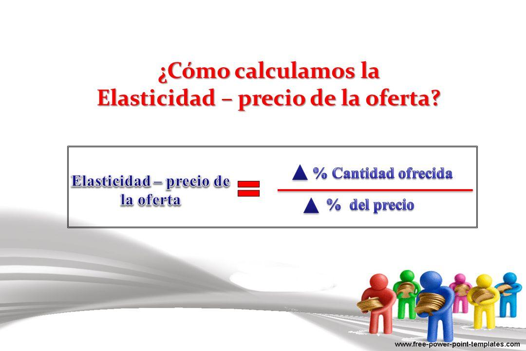 ¿Cómo calculamos la Elasticidad – precio de la oferta?